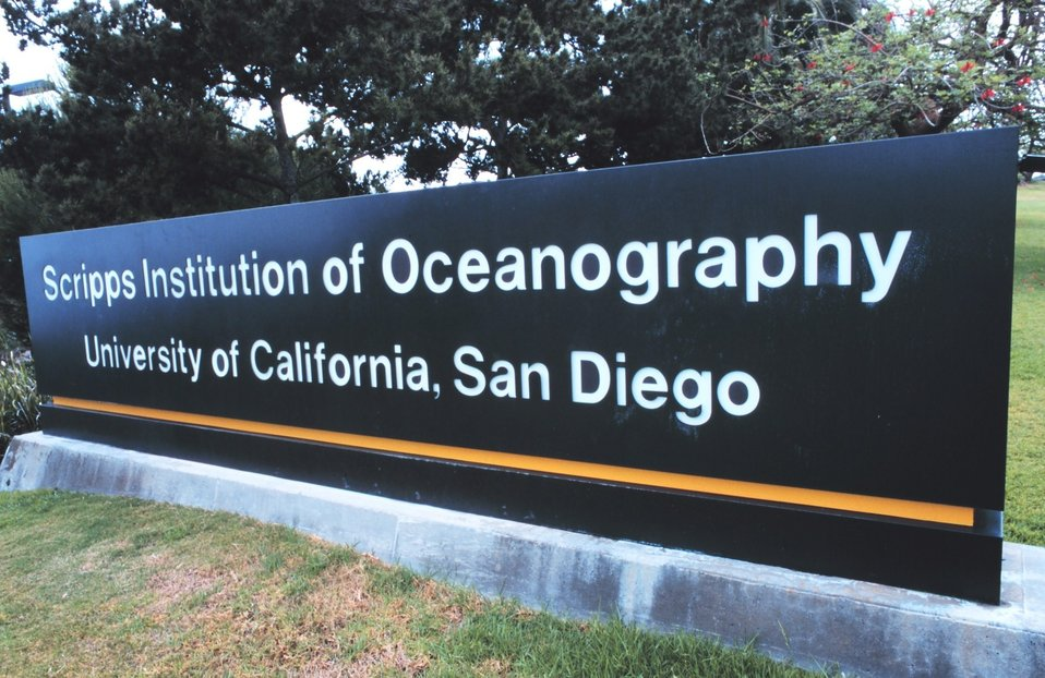 The entrance to Scripps Institution of Oceanography