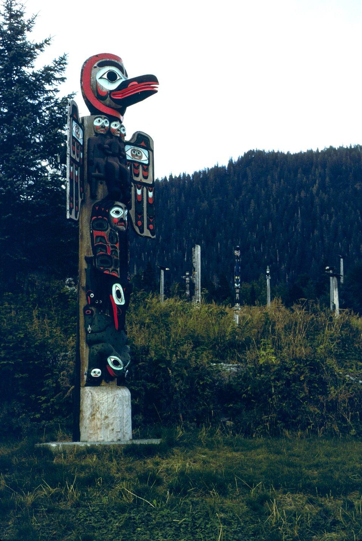 Totem poles Saxman Totem Park.