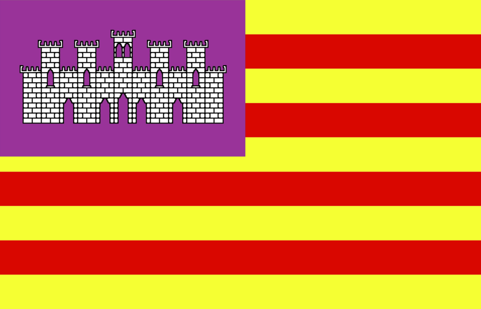 Flag of Baleares - Spain