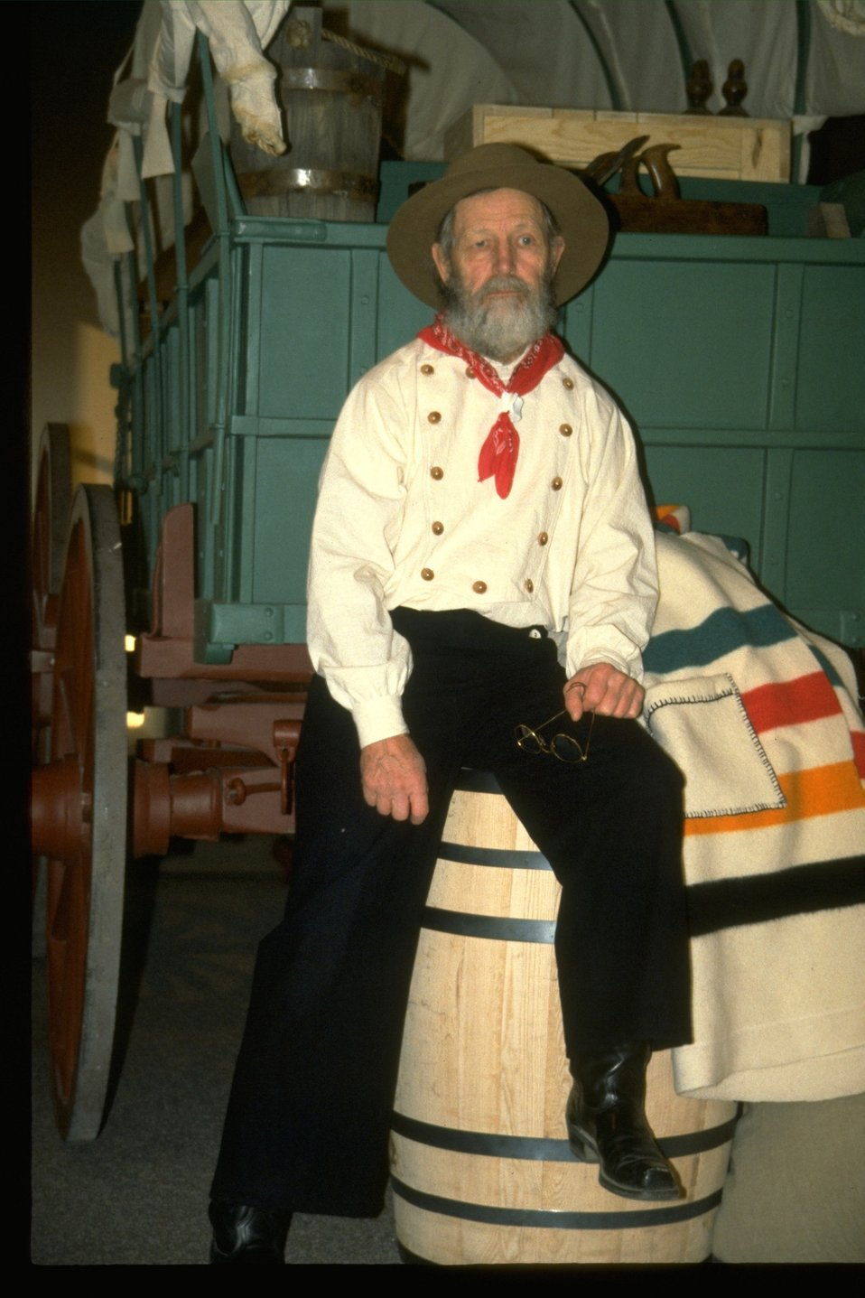 George Johnson in costume for performance at the NHOTIC.