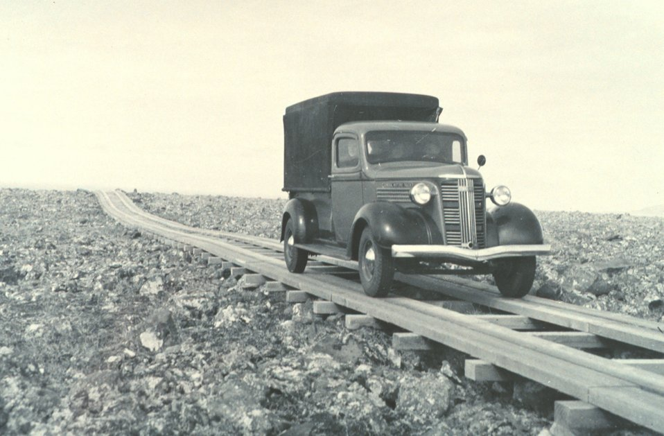 The plank road on St. George Island.  F&WS 10,067.