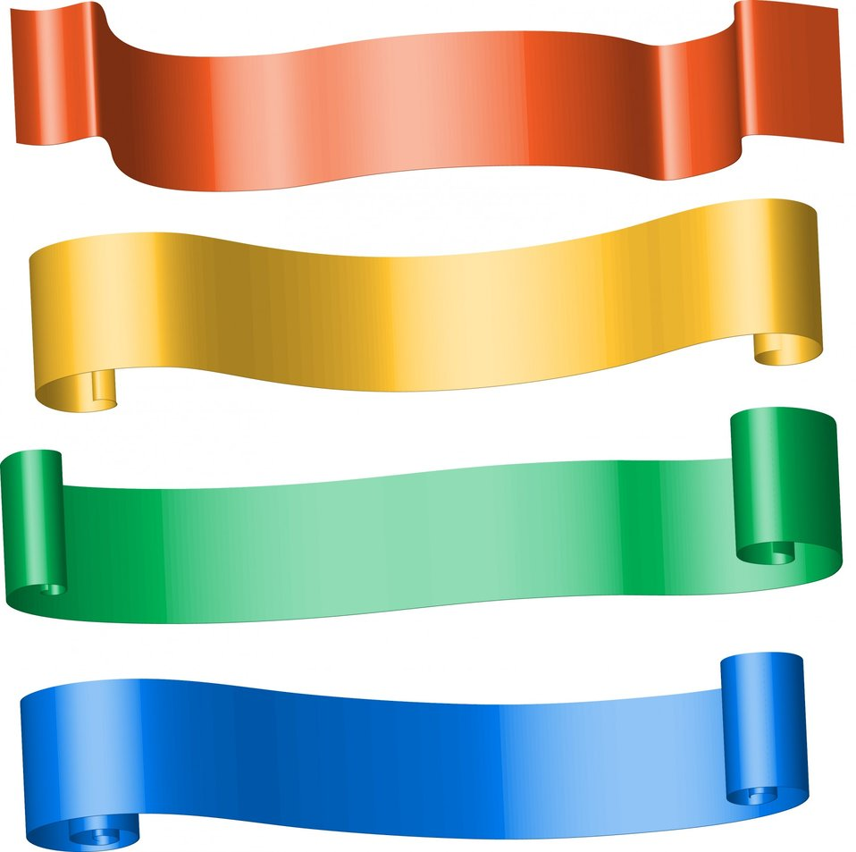 Colour ribbon banners