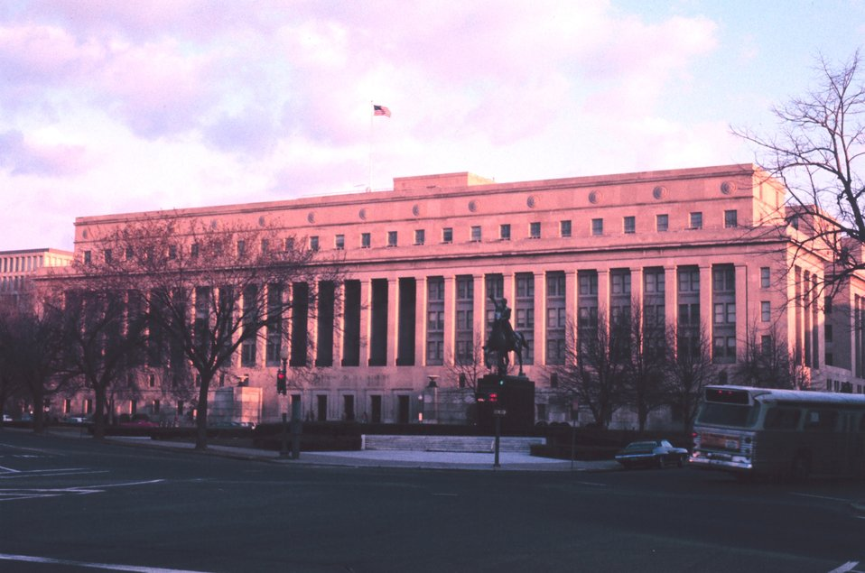 The Interior Department Building, formerly home to the Bureau of Commercial Fisheries, forerunner of today's National Marine Fisheries Service