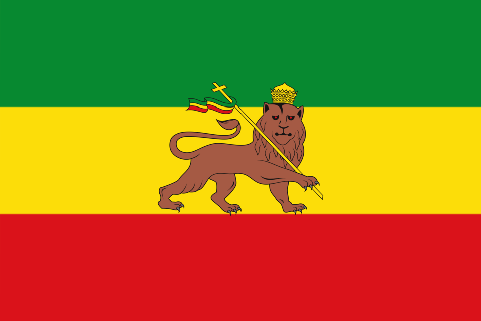 Old Flag of Ethiopia (1897–1974)