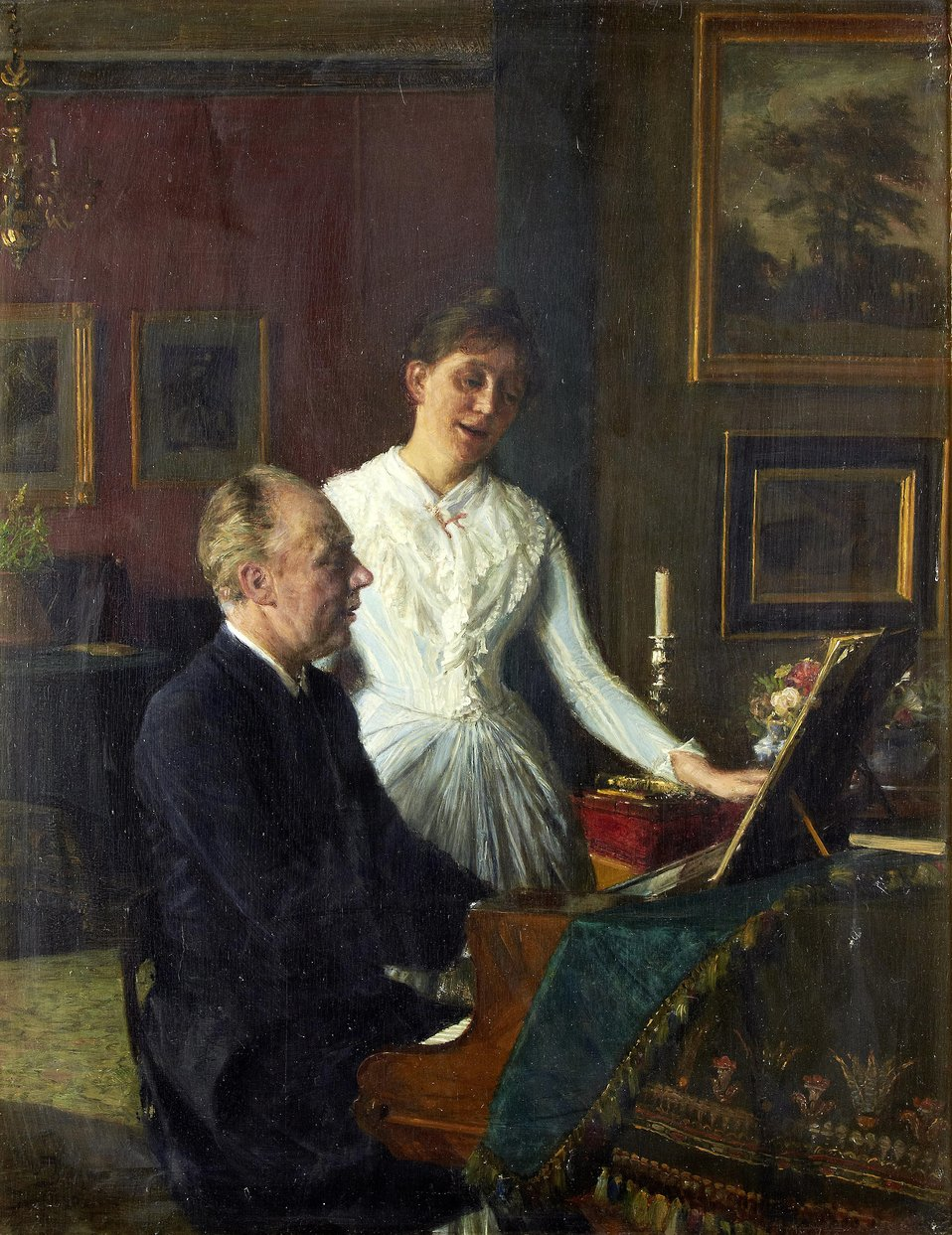 August Jerndorff - Actor Peter Jerndorff and his wife Amalie (1890).jpg