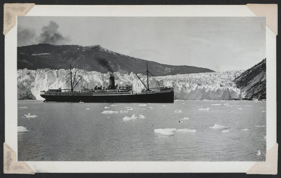 Tourist steamer at Taku Glacier.
