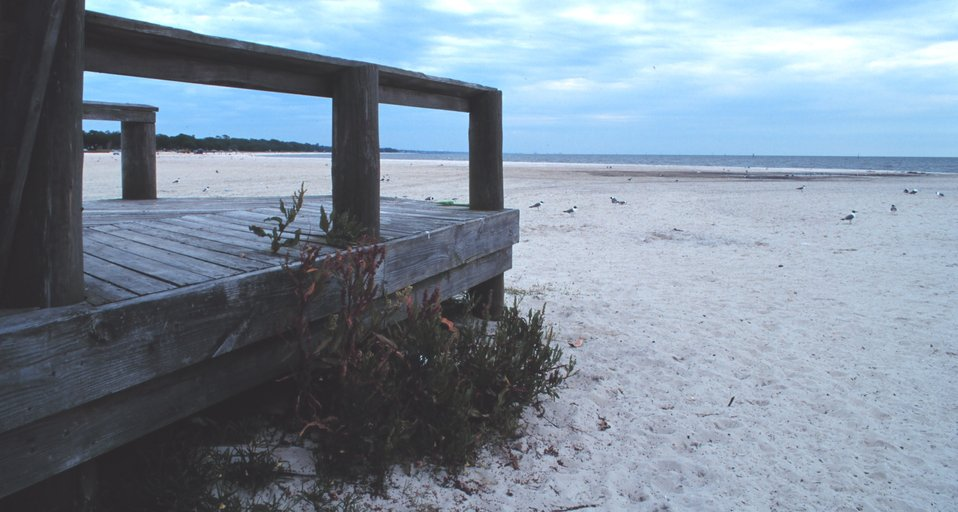 The sandy beach at Biloxi