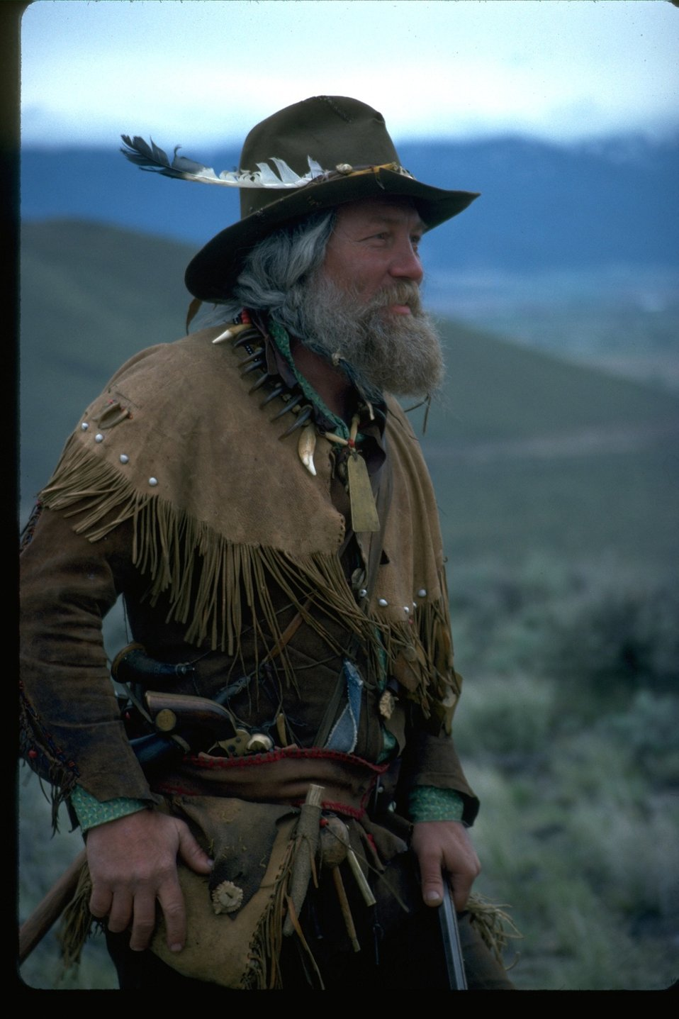 Mountain Man re-enactor.