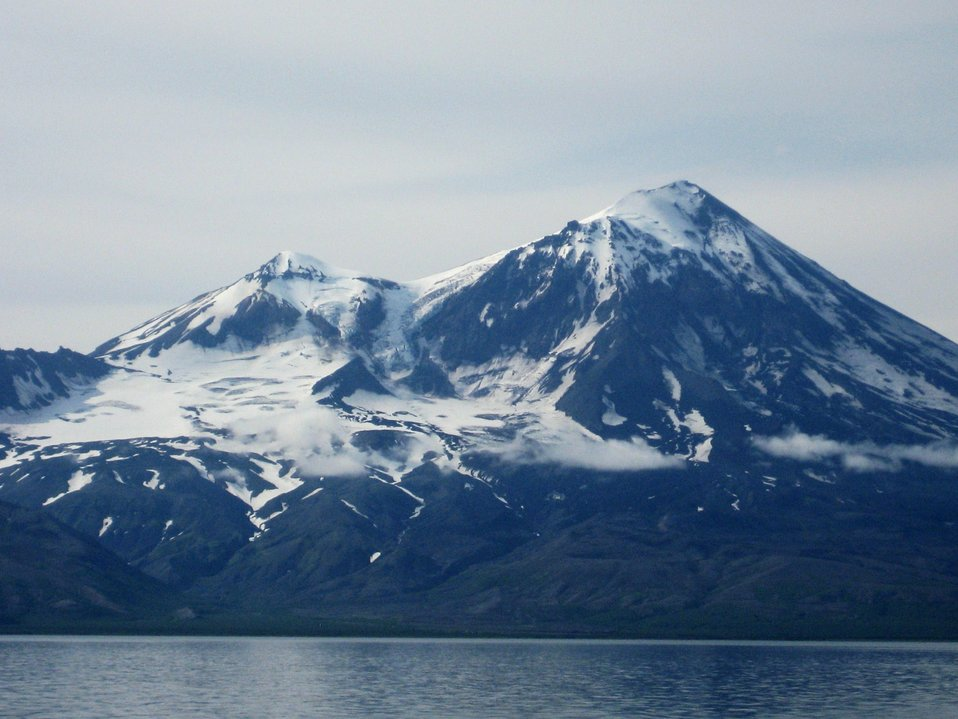 Pavlof Volcano as seen from Cold Bay area.