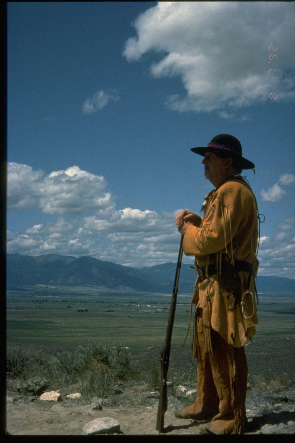 Mountain Man pioneer re-enactor.