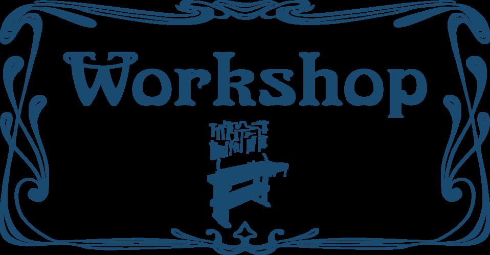 Workshop door sign