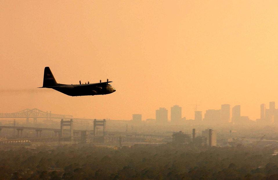Aerial spray team deploys to Louisiana