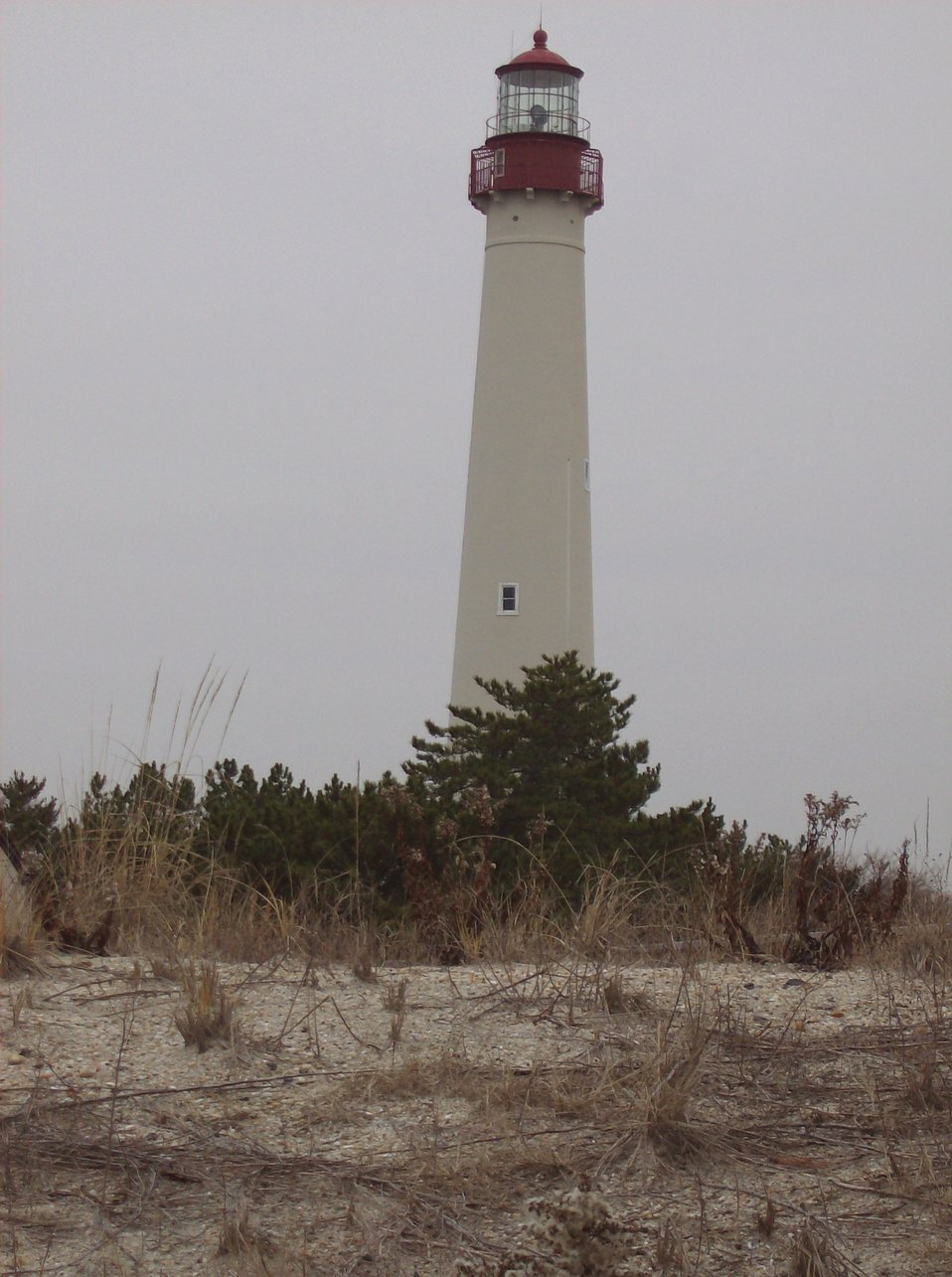 The Cape May Lighthouse standing as a sentinel for Delaware Bay entrance.