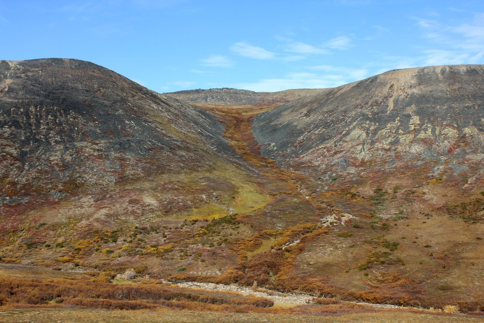 Tundra scene along the Dempster Highway