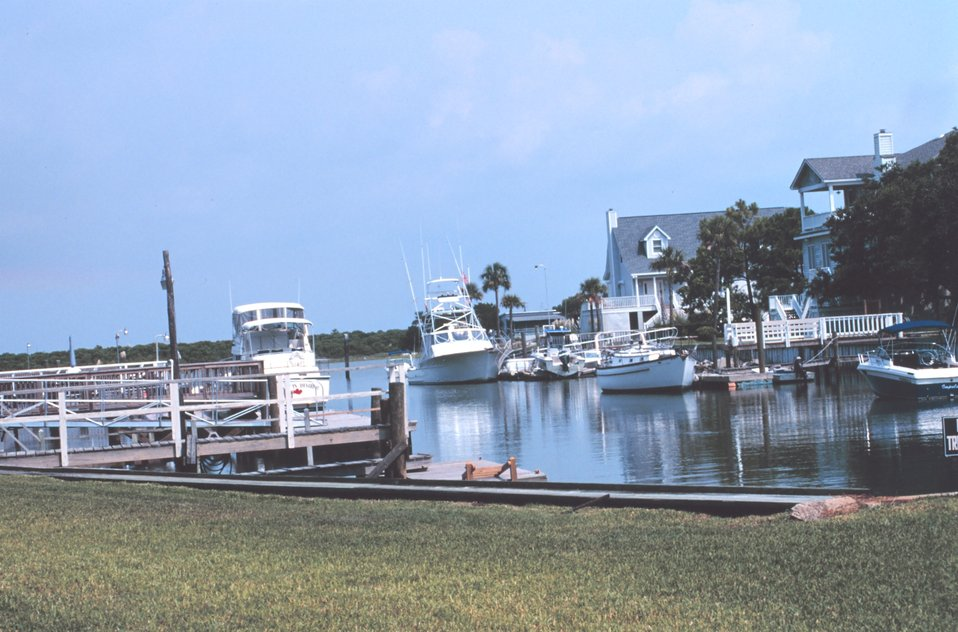 Recreational fishing boats and vacation homes