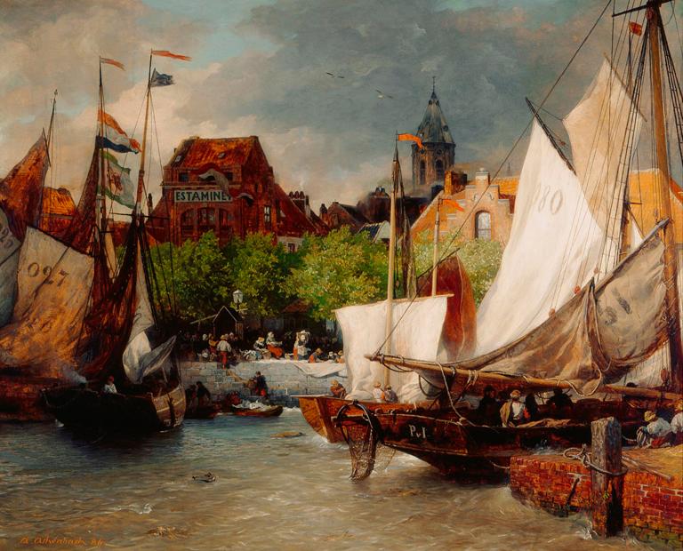 Andreas Achenbach - Fischmarkt in Ostende.jpg