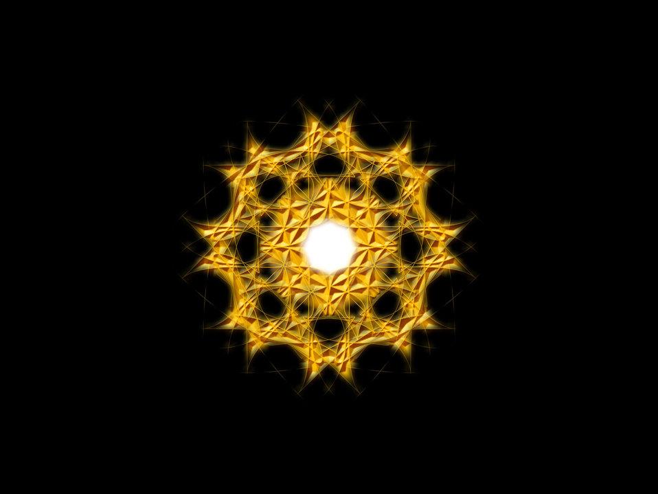 Light spun abstract