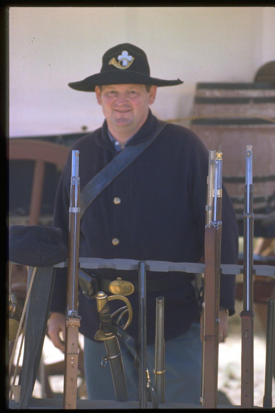 Pioneer festival scene--a soldier.