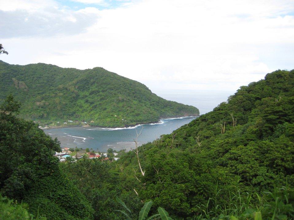 Village on bay