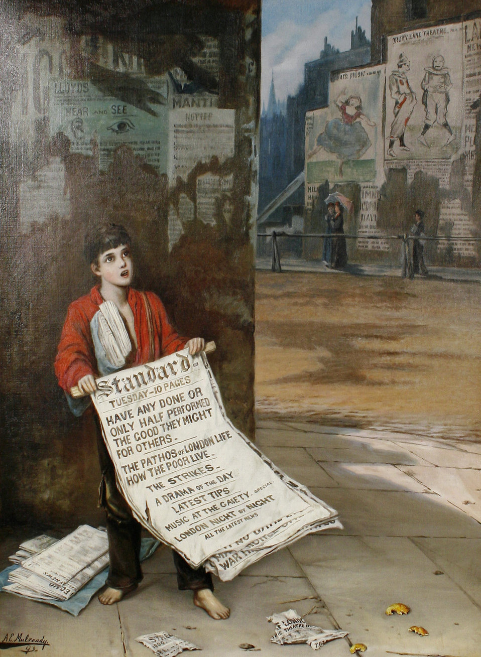 Augustus Edwin Mulready A London Newsboy 1893.jpg