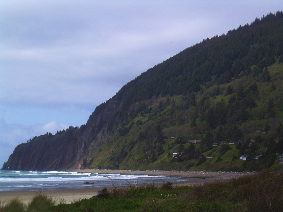 Headland along the northern Oregon coast.