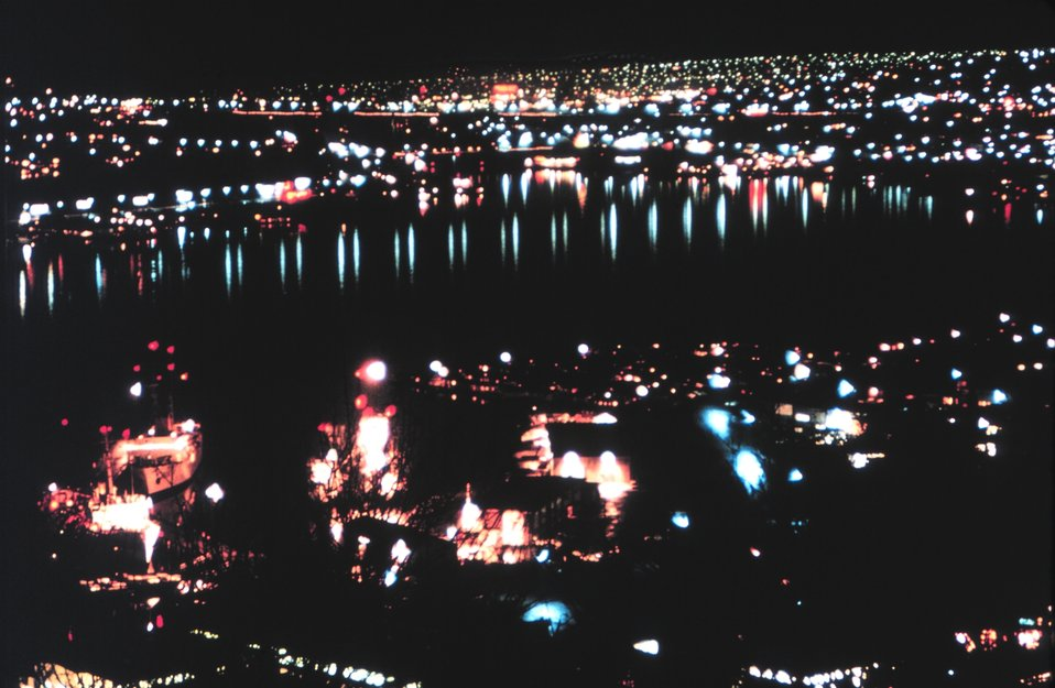 Lake Union at night