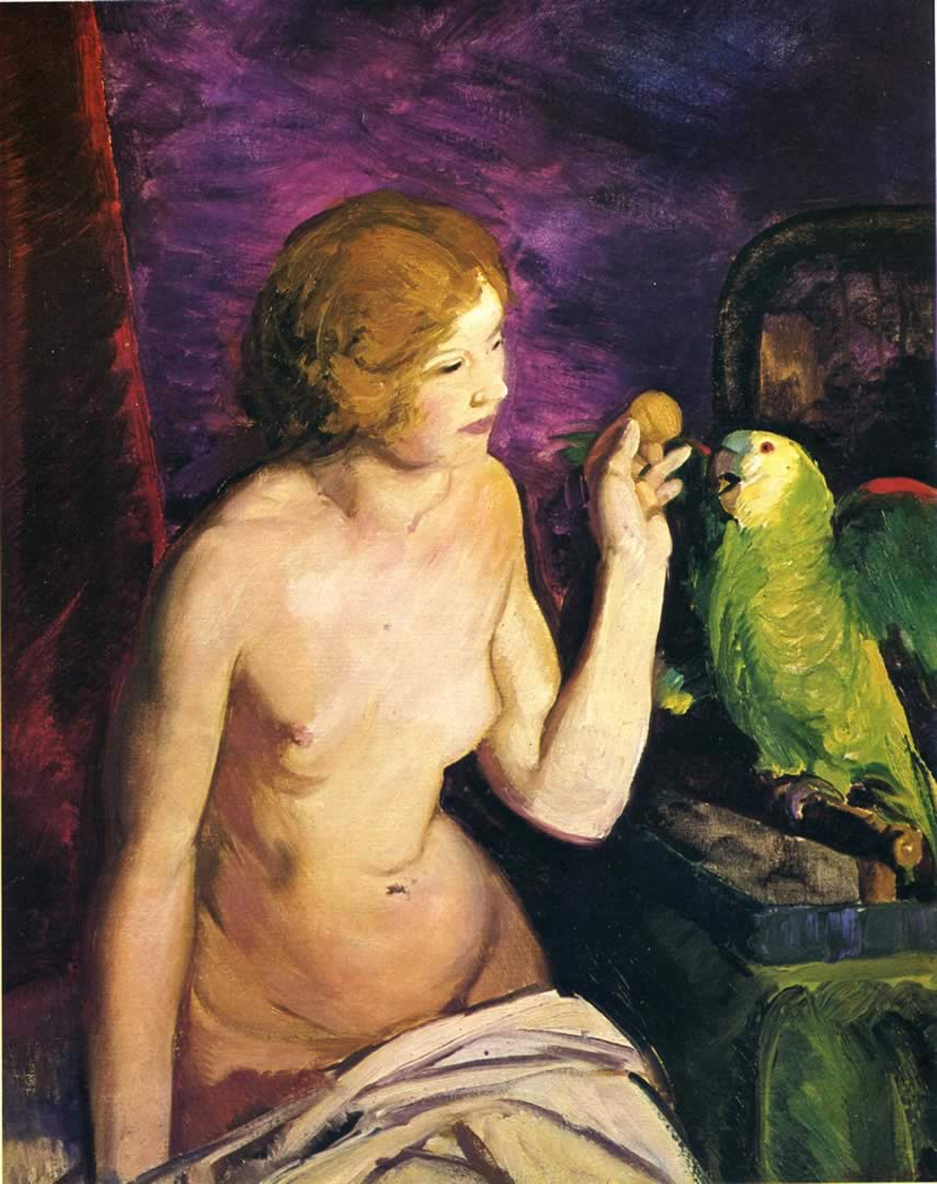 George Bellows - nude-girl-and-parrot.jpg