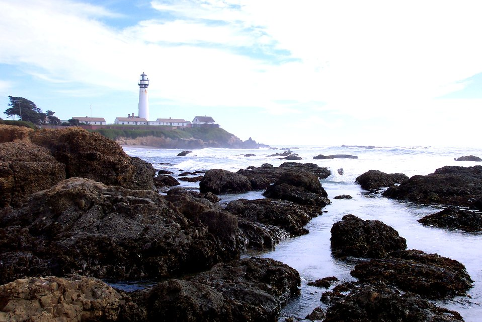 Pigeon Point Lighthouse as seen from the north.
