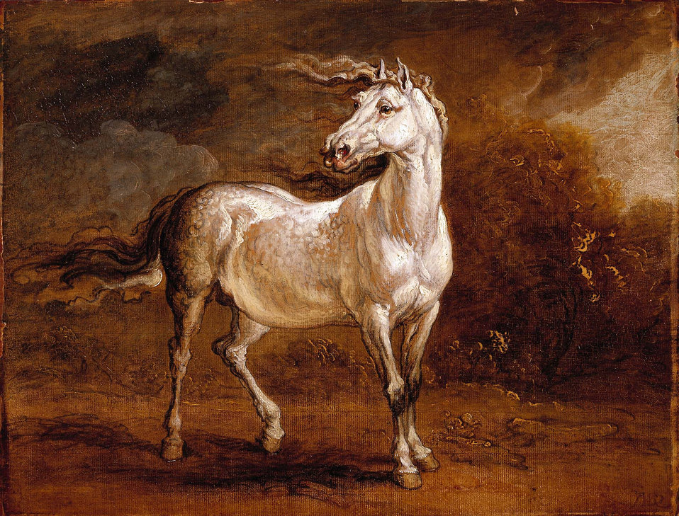 A Cossack Horse in a Landscape by James Ward, RA.jpg