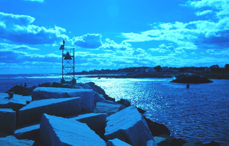 Entrance to the harbor at Odiorne Point State Park.