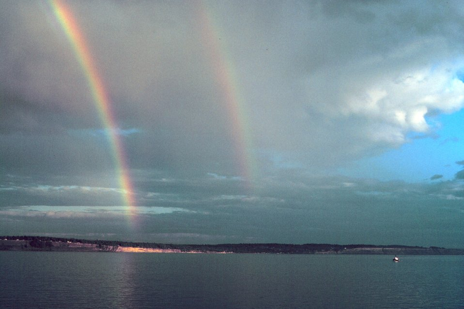 A spectacular double rainbow.