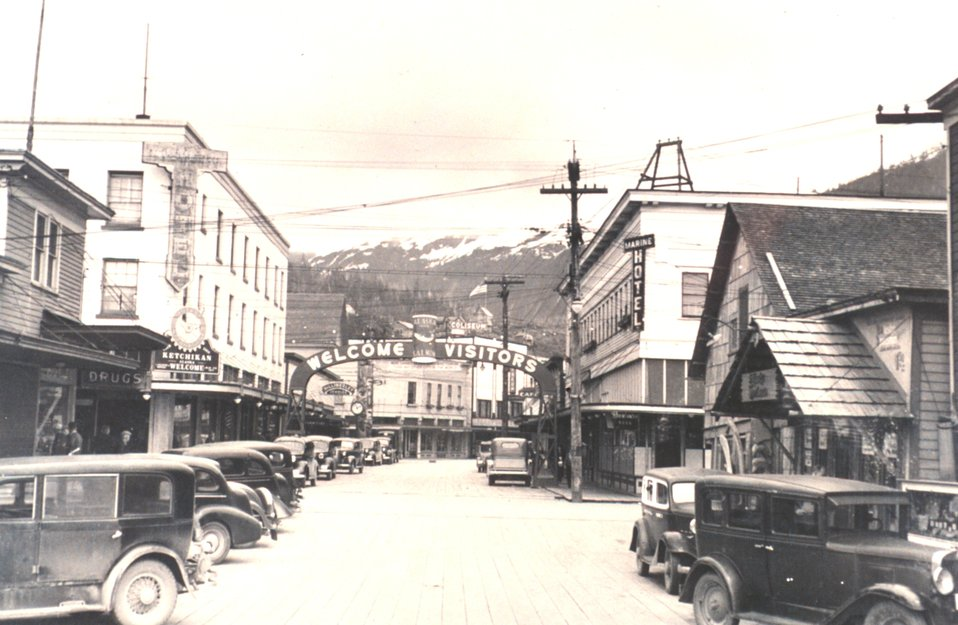 Mainstreet of Ketchikan.  F&WS 10,055.