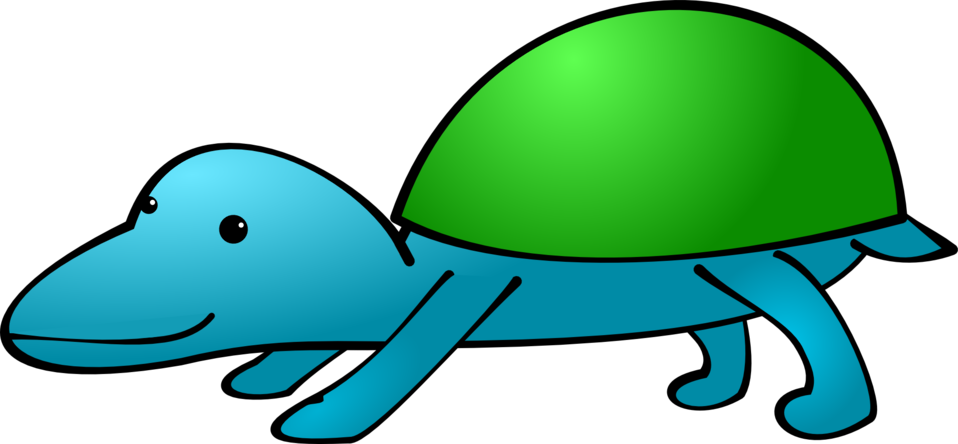 Fictional animal with shell