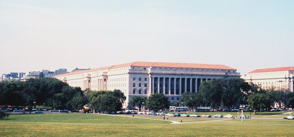 The Herbert Clark Hoover Building, home to the U. S. Department of Commerce,  parent agency to NOAA.