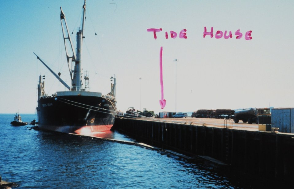 The tide house on the pier at Port Angeles