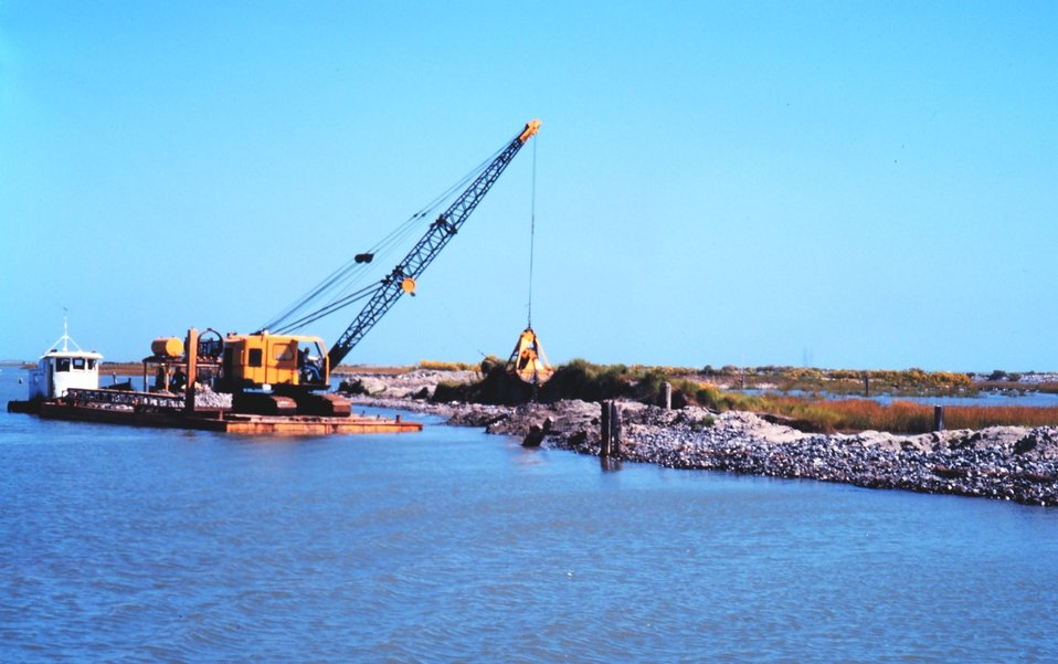 The Greenhill/East Timbalier levee maintenance