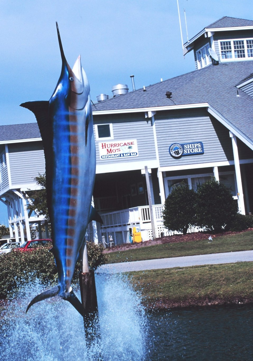 Fish art at Pirate's Cove Marina and home sites
