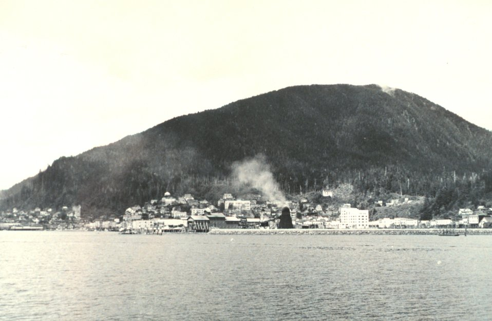 View of Juneau from seaward