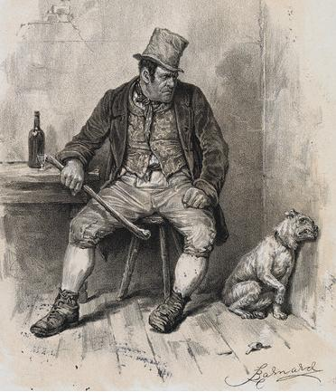 Reproduced from a c.1870s photogravure illustration to Charles Dickens's Oliver Twist
