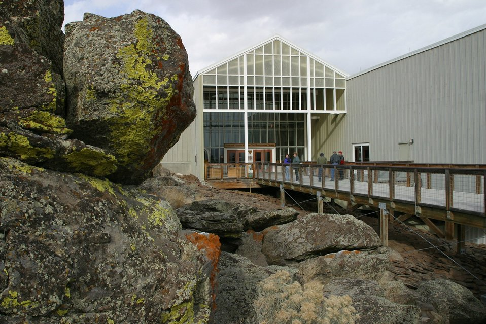 The Main entrance to the National Historic Oregon Trail Interpretive Center.