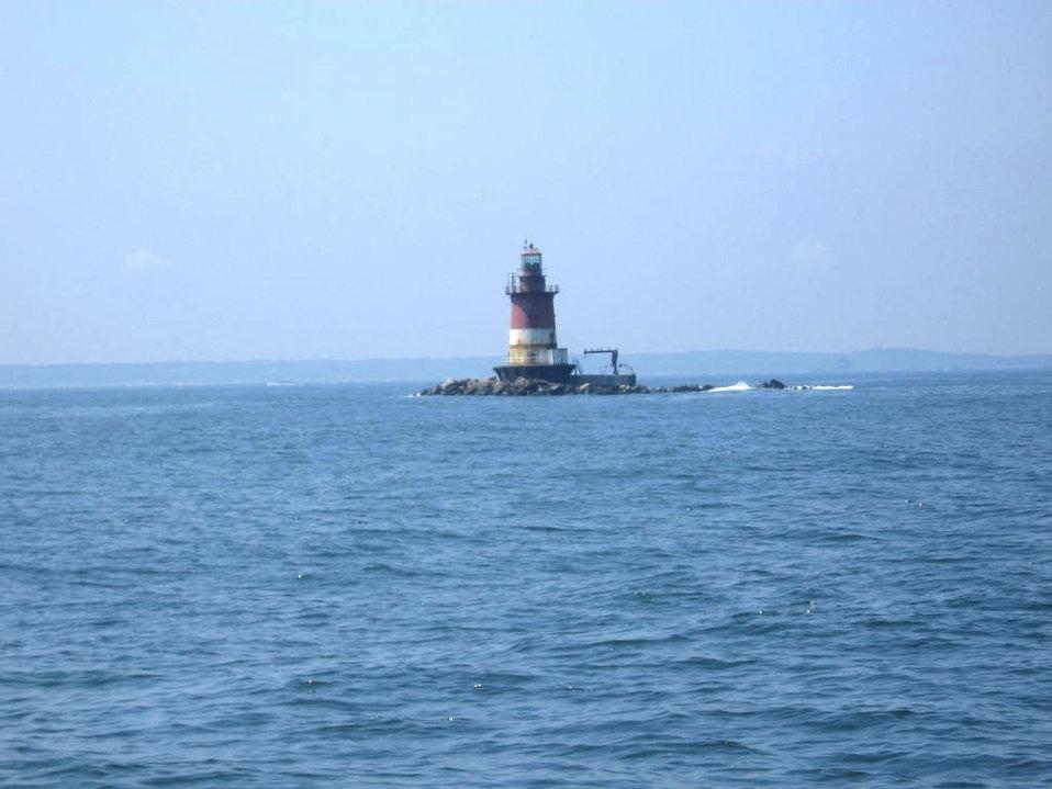 Romer Shoal Lighthouse, entering New York Harbor