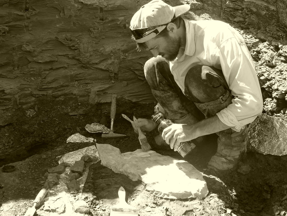 fossil dig at Charles M. Russell National Wildlife Refuge, MT