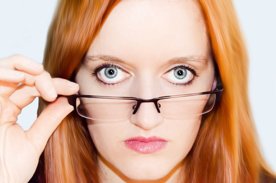 Woman and glasses