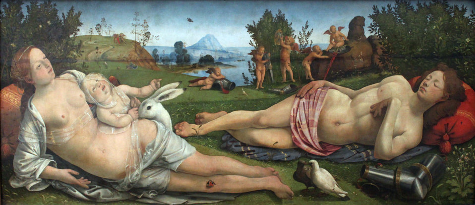 1505 Piero di Cosimo Venus, Mars and Cupid anagoria.JPG