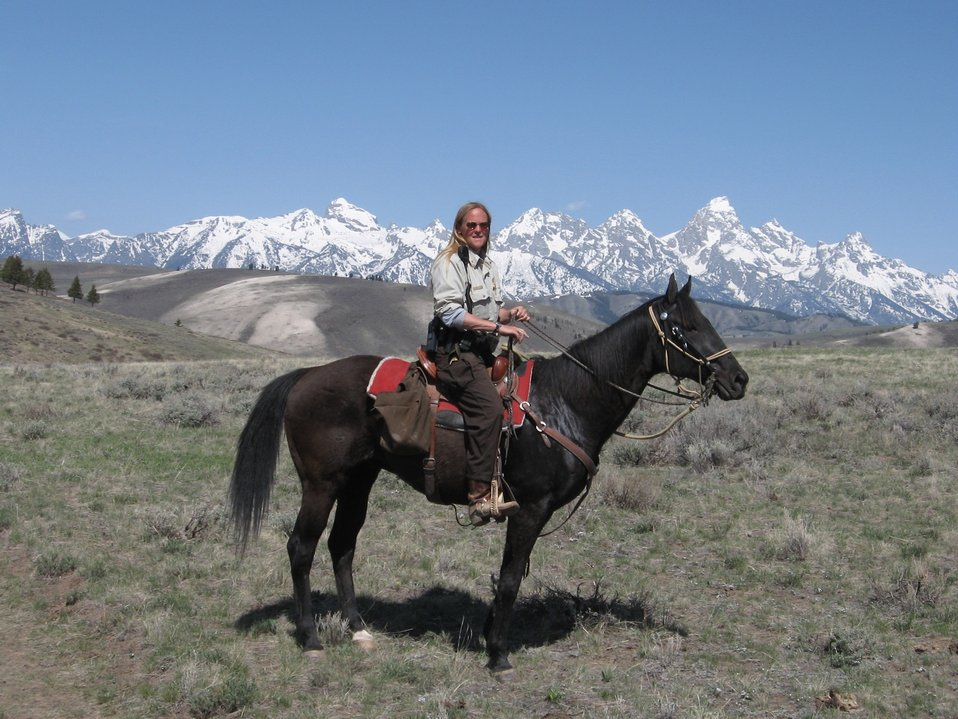 Officer Deb Goeb at National Elk Refuge