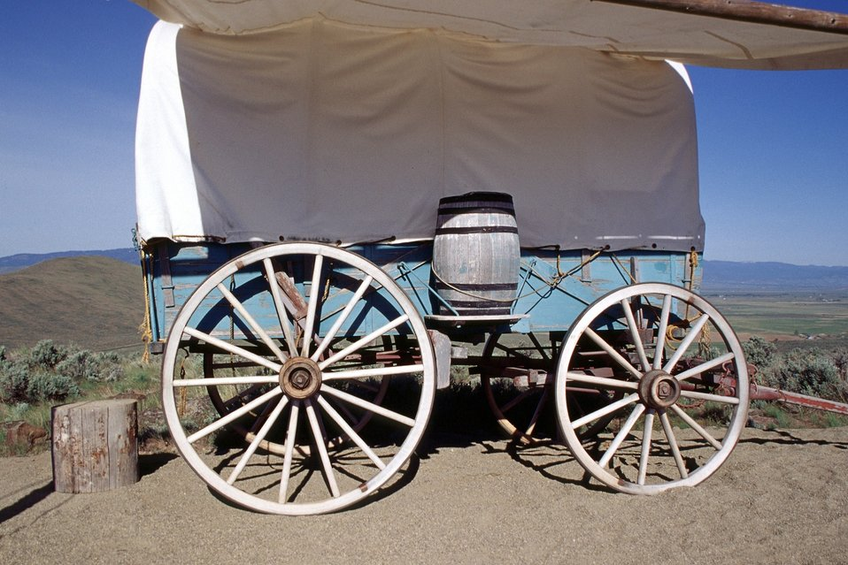 Covered wagon from wagon train reenactment. NHOTIC 10th Anniversary