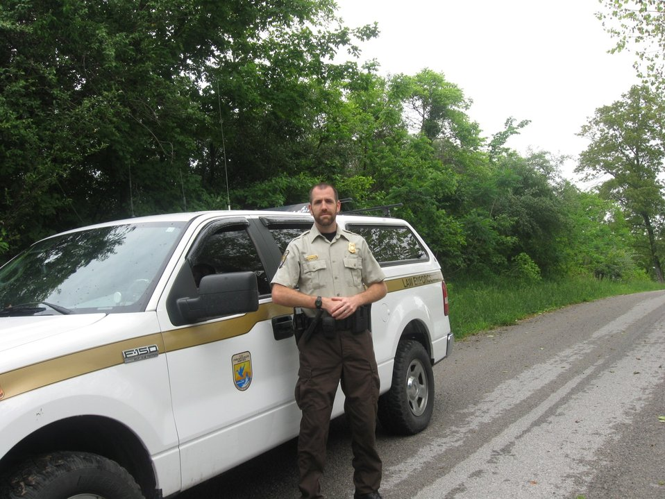Officer Carl Lantz in field