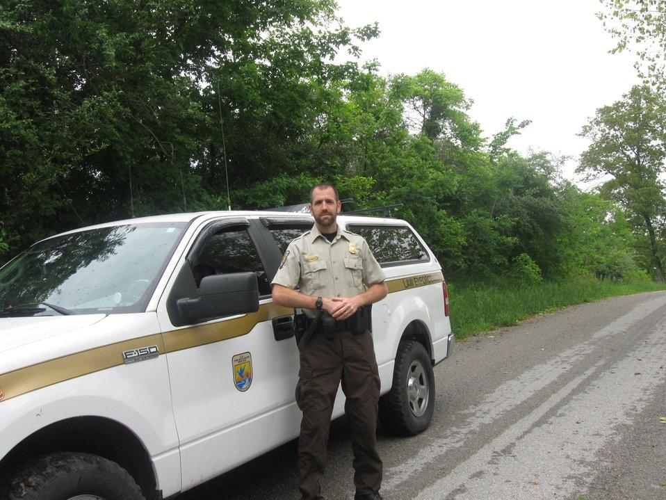 Officer Carl Lantz in field