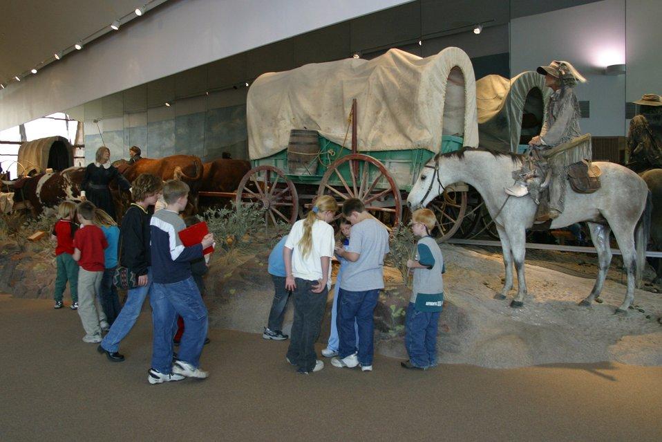 Hundreds of school children visit the National Historic Oregon Trail Interpretive Center every year.