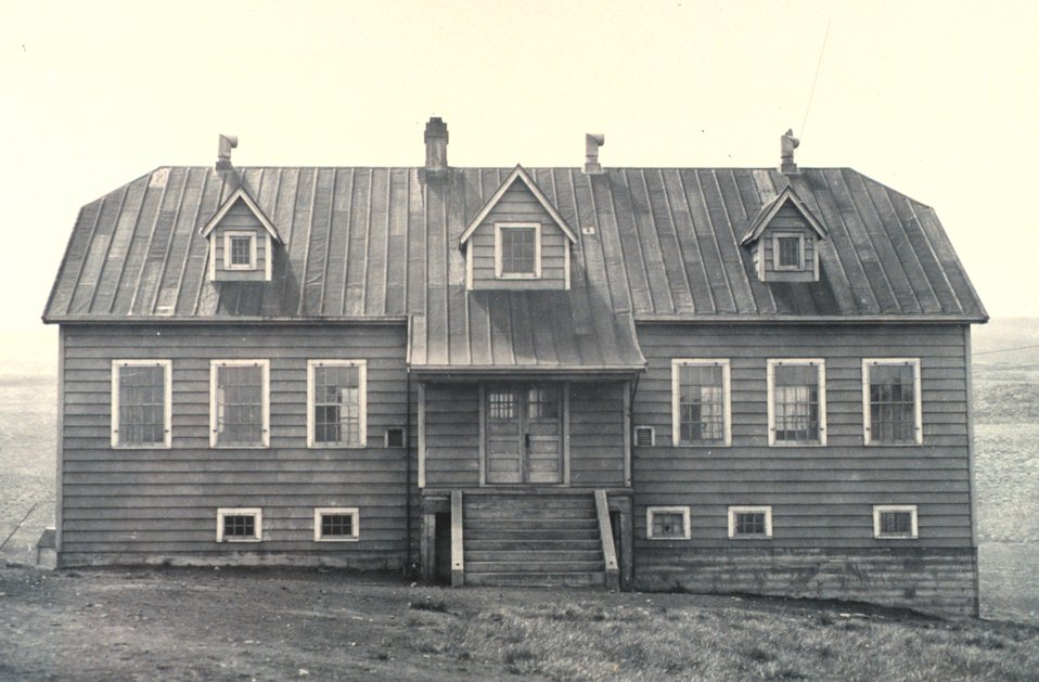 The school building on St. Paul Island.  F&WS 10,071.